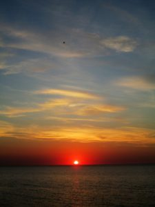 zachód słońca Łazy 2015